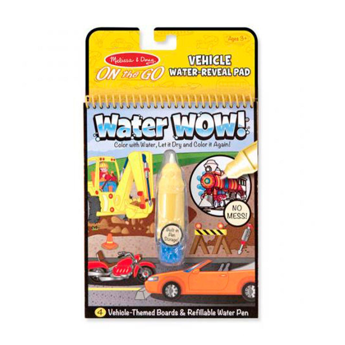 Libro Para Colorear Agua Wow Vehiculos Melissa Doug Diunsa
